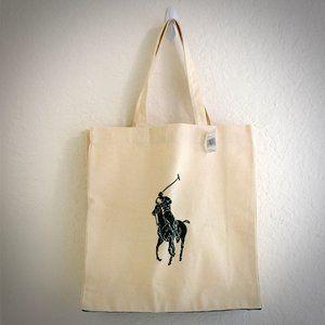 Polo Ralph Lauren Tote Bag Pony Player Logo Cotton